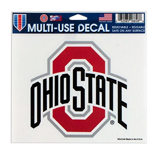 "WinCraft NCAA Ohio State University Multi-Use Colored Decal, 5"" x 6"" - 18858014"