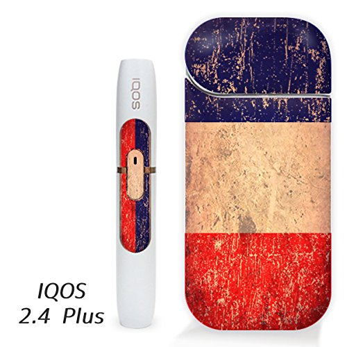 アイコス用 スキンシール ( 2.4Plus 用 ) フランス 国旗 (アンティーク) シール ステッカー iQOS用,