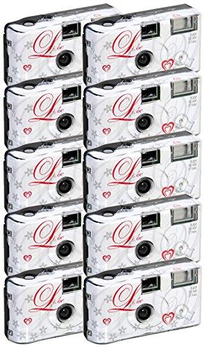 10x allMedia Liebe/Love Hochzeitskamera/Einwegkamera/Partykamera mit Blitz (27 Fotos)