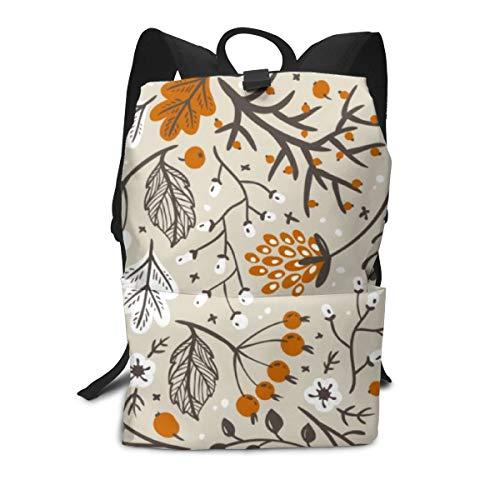 Herfst Herfst Bessen Bladeren en takken Patroon Casual Laptop Rugzak School Rugzak Rugzak Tassen voor Mannen Vrouwen Kids Jongens Meisjes