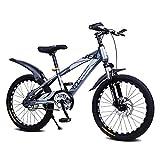 DHMKL 16/18/20 Pulgadas MTB Bici Infantiles Bicicleta MontañA NiñOs,Cuadro Acero con Alto Contenido Carbono/Bicicleta con AmortiguacióN Frenos Disco/Llanta AleacióN Aluminio/5 A 14 AñOs