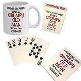 Grumpy Old Man Gag Gift Set - 50th 60th 70th 75th 80th Birthday - Mug and Jumbo Index Large Print...
