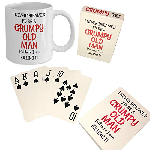 Grumpy Old Man Gag Gift Set - 50th 60th 70th 75th 80th Birthday - Mug and...