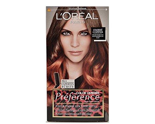 Loreal Preference Ombre Copper zum Einbürsten, Coloriert Haarlängen 174ml