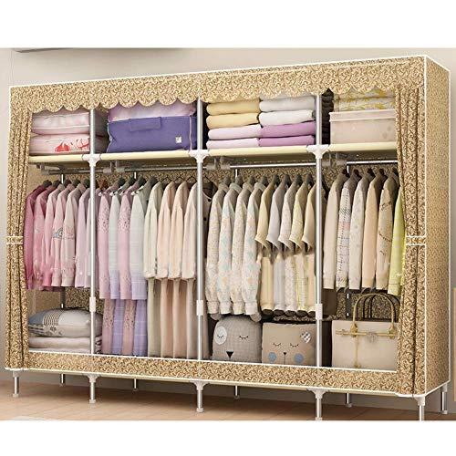 COLiJOL Möbel Kleidung Kleiderschrank Schrank Organizer Kleidung Lagerregal Mit Vliesstoff, 4 Kleiderstangen, Schnell Und Einfach Zu Montieren 200 X 45 X 170 cm (78,7 'X 17,7' × 66,9 '), B,D.