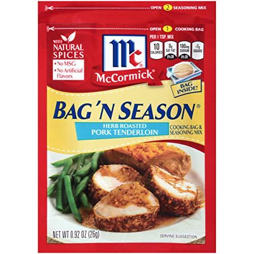 McCormick Bag 'n Season Herb Roasted Pork Tenderloin Cooking & Seasoning Mix, 0.92 oz