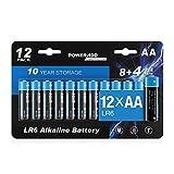 【12 Stück】 12 Stück AA 1,5 V Alkaline Batterien erfüllt alle Sicherheits- und Umweltvorschriften. 【10 Jahre Haltbarkeit】 Auslaufsicher und langlebig. Die einzigartige Leckagetechnologie von gewährleistet die Langzeitlagerung von Batterien. 【Lange Akk...