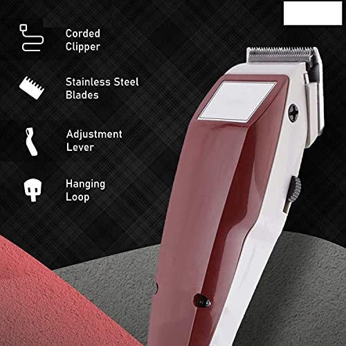 GRASP HEAVY DUTY PROFESSIONAL RF-666 F-Y-C Shaving, Waxing & Beard Care Tool ELECTRIC HAIR CLIPPER Corded Trimmer for Men, 1.5 m Long Wire and Adjustable Trimming Range