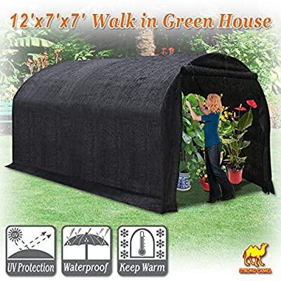 Strong Camel 80% Sunblock Shade Cloth GreenHouse Walk-In BLACK Greenhouse Outdoor Plant Gardening