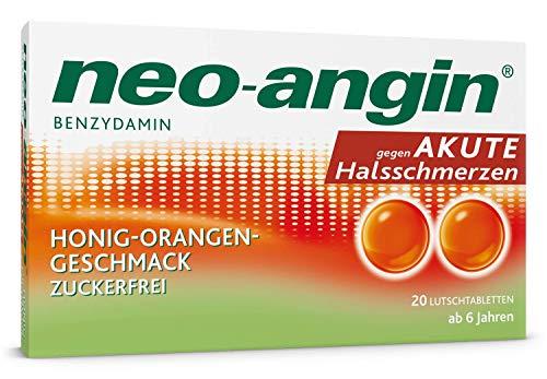 Neo-angin bei akuten Halsschmerzen mit Honig-Orangengeschm.,