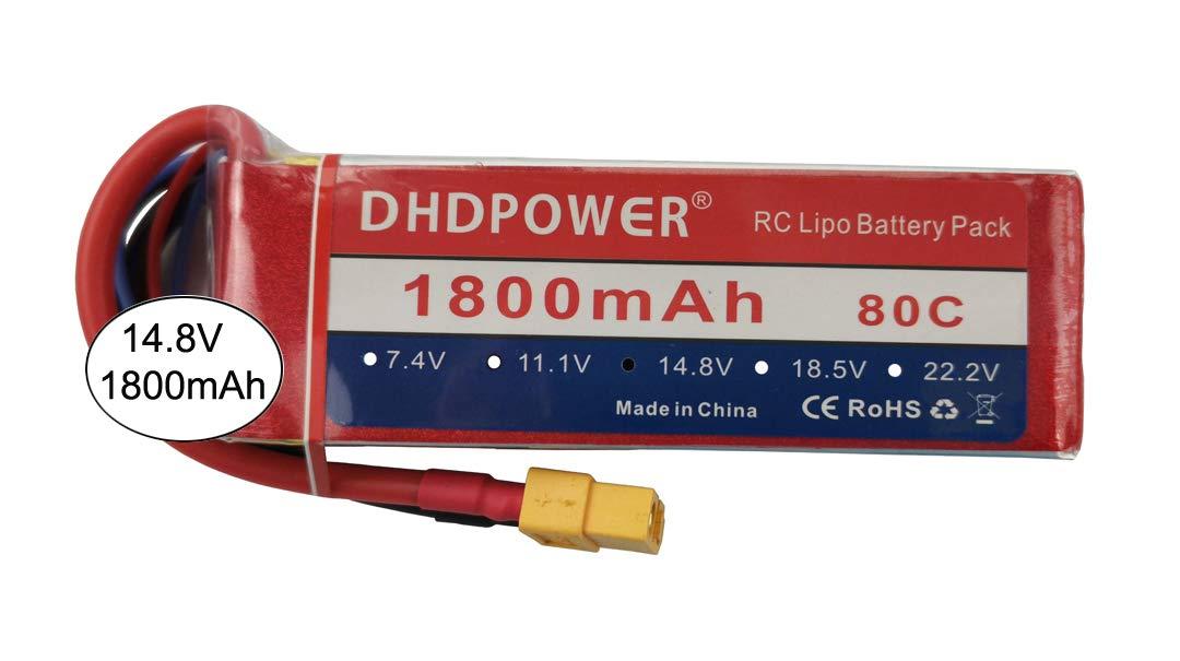 Bateria LIPO 14.8v 1800mah 80C 4S XT60 Plug DHD
