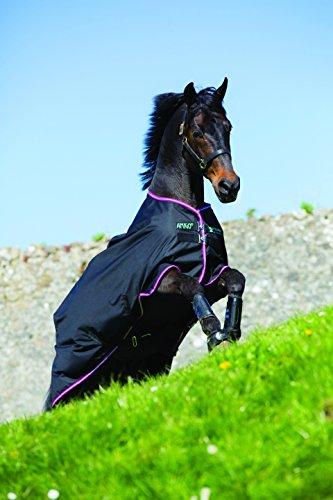 Horseware Amigo Turnout Hero 6 Lite Black with Purple & Mint Weidedecke 115-160 (115)