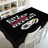 XXDD Cool Video Games Gamer Gaming Table Cloth Mantel Impermeable Cubierta de Mesa para mesas rectangulares Cuadradas Cubierta Decoración A4 150x210cm