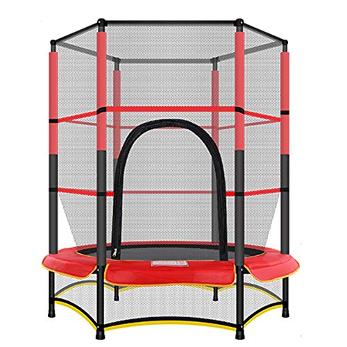 QXTT Trampoline With Safety Enclosure Net And Frame Cover Mini Trampolines For Kids With Net For Children Jumping Training Indoor Outdoor Activities