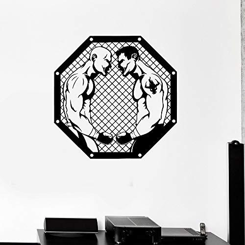 jiushivr Yin Yang Wandtattoo Taoismus Vinyl Wandaufkleber Wohnzimmer Floral Balance Geschenk Raumdekoration Schlafzimmer Dekor Zubehör42x42cm