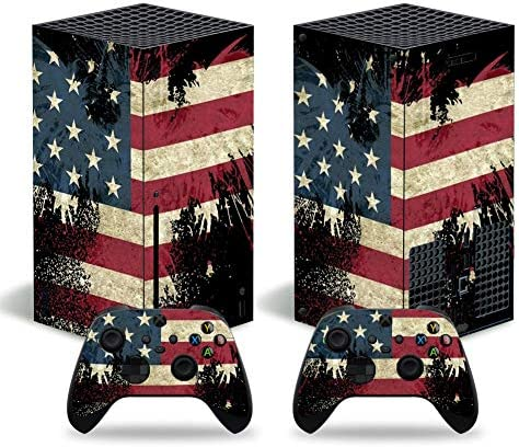 UUShop Skin Decal Sticker Cover Set for Xbox Series X Console and Controller Faded American product image
