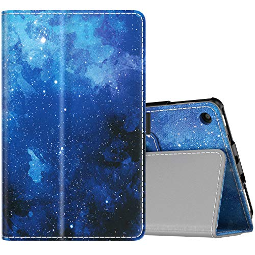 TiMOVO Cover Compatible for All-New Fire 7 Tablet Case (9th Generation, 2019 Release) - Lightweight Smart Shell Slim Folding Cover Case with Auto Wake/Sleep Fit Amazon Fire 7 Tablet - Blue Star