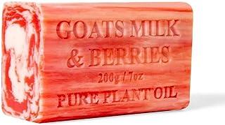 2x 200g Goats Milk Soap And Berries Goat Bar Skin Care Pure Natural Australian