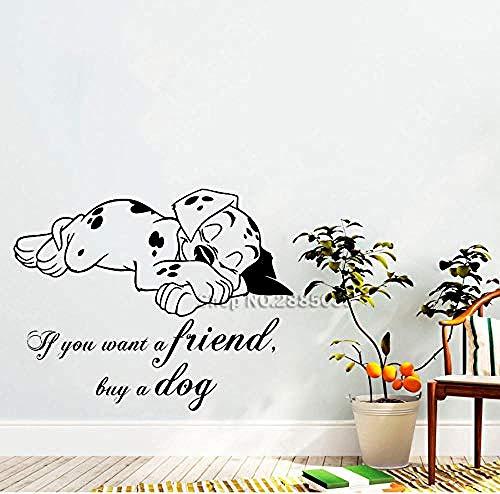 Zykang Nette Haustier Wandaufkleber Hunde Bester Freund Tiere Wandtattoo Für Wohnzimmer Schlafzimmer Wand Wohnkultur Wandbild 71 * 56 Cm