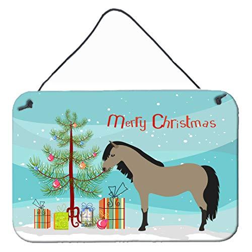 prz0vprz0v Welsh Pony Paard Kerstmis Muur of deur opknoping Prints Houten Teken Deur Plaque