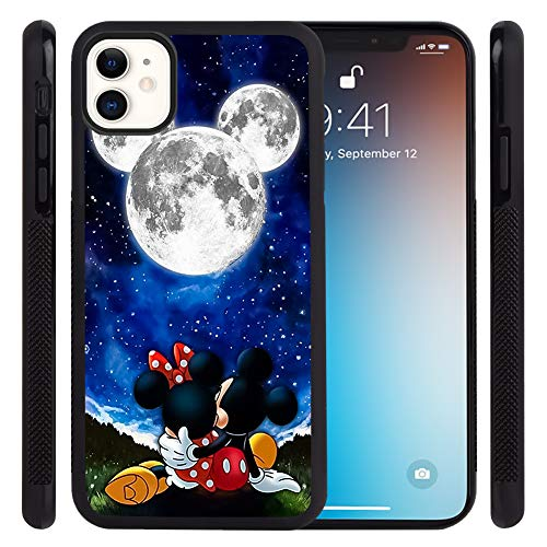 DISNEY COLLECTION Phone Case for iPhone 11 (6.1 Inch) Mickey Dates with Minnie Tire Skid Shock Proof Slim Light Rubber Bumper Cartoon Cute Protective Cover for iPhone 11