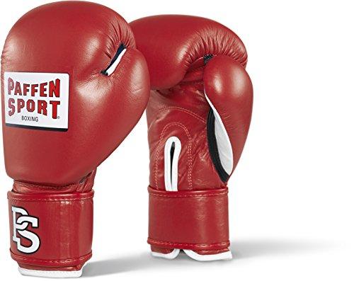 Paffen Sport CONTEST Wettkampf-Boxhandschuhe mit DBV-Prüfmarke; rot; 10UZ