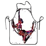 Yuanmeiju Delantales Men&Women Horses On The Hill Chef&Cook Kitchen Bib Delantal Waterproof Perfect for Cooking,Baking,Crafting,BBQ Durable Creative Pinafore