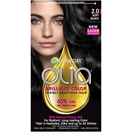 Garnier Olia Ammonia Free Permanent Hair Color, 100 Percent Gray Coverage (Packaging May Vary),...