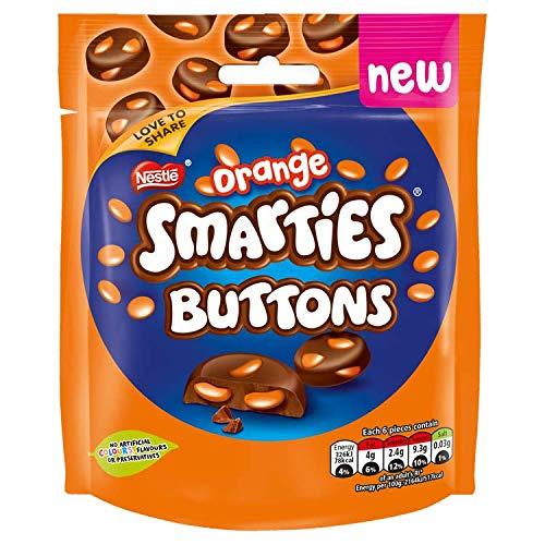 Smarties Buttons Orange Milk Chocolate Sharing Pouch, 85g
