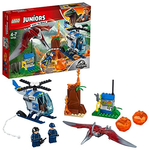 LEGO- Juniors Fuga dallo pteranodonte, Multicolore, 10756