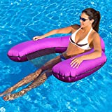 Floating Hammock for Pool,Water Hammock with Mesh for Swimming Pool,2021 Updated Multi-Purpose Inflatable Bed (Lounge Chair,Float Row, Drifter),Easy to Carry/Use,No Need for Air Pump and Inflation