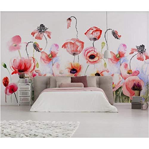 Wuyii Europese tropisch bloemenbehang fotobehang contact papierrol hoofdwanddecoratie behang 3D foto bloemenbehang 150 x 120 cm.