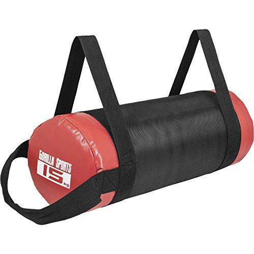 Gorilla Sports Fitness Bag Noir/Rouge - Sac lesté de 5kg à 30kg