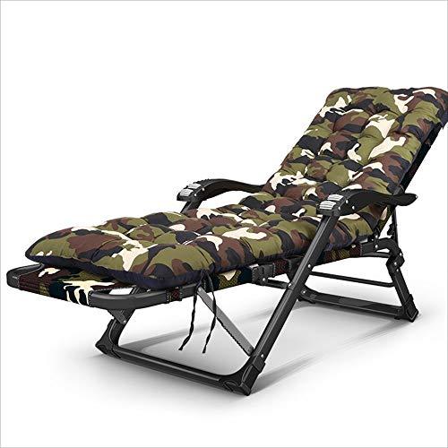 LZMXMYS Silla de salón al Aire Libre, Plegable chairFashion reclinable de Acero Inoxidable Ajustable sillón