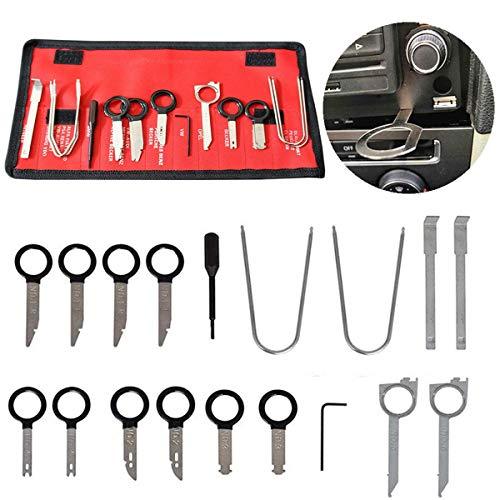 Xrten Autoradio Demontage Werkzeug,Autoradio Einbau Ausbauwerkzeug Set,Universal KFZ Radio Ummontage Werkzeug