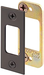 Defender Security E 2482 Security Deadbolt Strike Plate, Steel Construction, Classic Bronze Finish