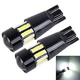 Ampoule automobile 2 PCS 5W 400LM T10 7020 Largeur de la voiture Lumières de stationnement de la lumière de...