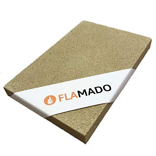 Flamado Vermiculite Platten Kaminofen Ersatzteile Feuerfeste Steine L: 600mm B: 400mm t: 30mm Dichte: 900 KG / m3