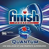 Finish Pastilles Lave-Vaisselle Powerball Quantum - 96 Tablettes Lave-Vaisselle