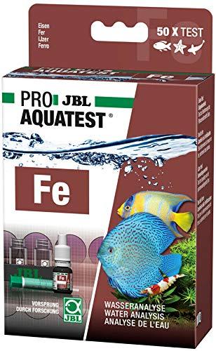 JBL Fe Eisen Test Schnelltest zur Bestimmung des Eisengehalts in Süß-/Meerwasser Aquarien & Teichen