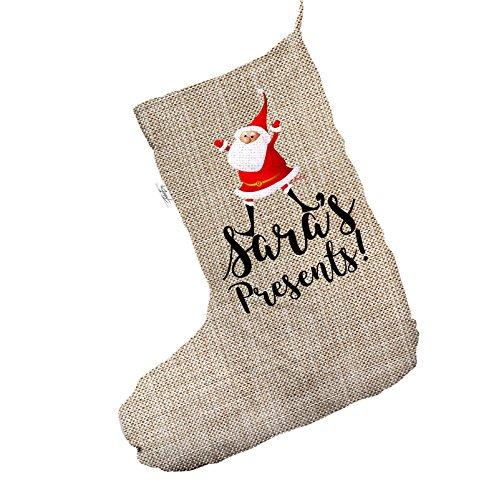 Regali di Babbo Natale personalizzabile Jumbo in iuta, calza di Natale sacchetto regalo