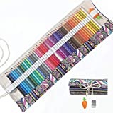 Colored Pencils Set for Adults and Kids Drawing Pencils for Sketch Arts with Eraser Sharpener Canvas Carry Pouch (48-Color)
