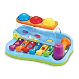 Pop 'N Play Music Center – Xylophone Baby Toy and Music Play Station – 6 Piano Keys, Colorful Balls, Exciting Hammer Toy, Fun to Play and Learn – No Batteries Required, for Toddlers 18+ Months
