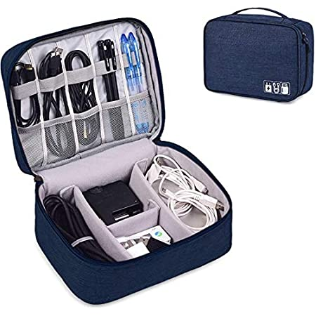 AREO (Blue) Travel Electronic Accessories Organizer Bag Case for Cable Charger…