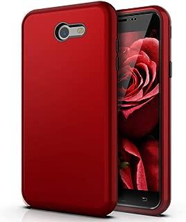 QQcase Galaxy J7 Case/ J7 Prime Case/ J7 Sky Pro Case/ J7 Perx Case/Galaxy J7 2017/ Galaxy J7 V 2017 Three Layer Slim Rugged Sturdy Shockproof Case for Samsung Galaxy J7 2017,Red Black