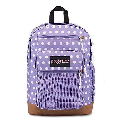 JanSport Huntington Backpack - Lightweight Laptop Bag | Purple Dawn Polka Dot
