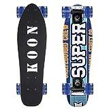 KO-ON Skateboards 22 Inch Complete Mini Cruiser Skateboard for Beginner Boys and Girls (Super Crew)