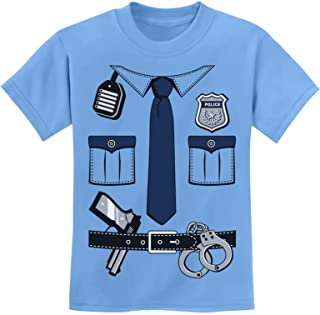 Police Cop Uniform Halloween Costume Policeman Outfit Suit Youth Kids T-Shirt