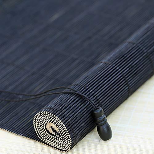 Estores Enrollables Bambú Persianas De Bambú Negro con Accesorios, Puerta Gazebo Balcón Enrollable De Ventana Persianas, 45cm / 65cm / 85cm / 105cm / 125cm / 145cm De Ancho (Size : 65×140cm)
