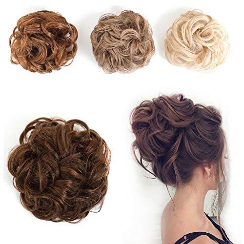 Rosa Star Synthetic Hair Bun Extensions Messy Hair Pieces for Women Chignon Hairpiece (2/30#) -  Rosa Star Hair, Hairbun-2/30#